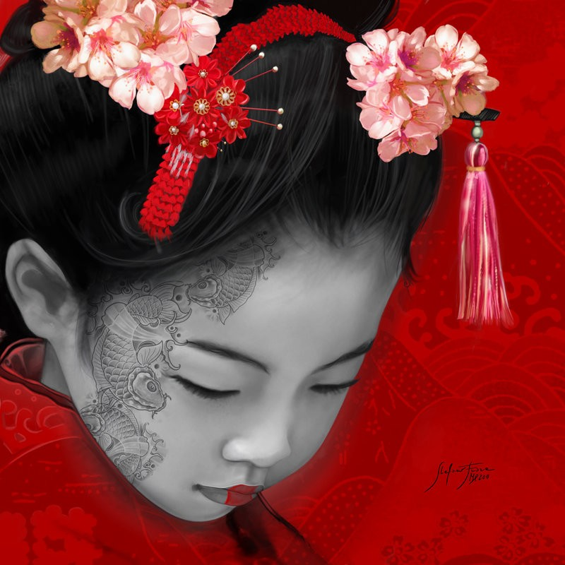 Little Japan 50x50cm Giclée on canvas (collezione privata)